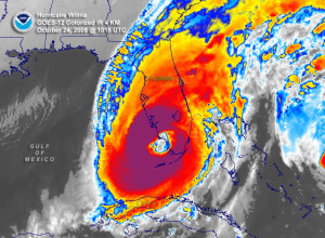 Hurricane Wilma, the last major hurricane to make landfall in the US.